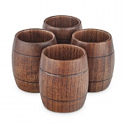 Barrel-shaped Shot Glasses