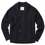 Swinbrook Toggle-zip Shawl Collar Cardigan