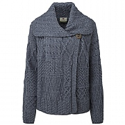 Merino Wool Single Button Cardigan