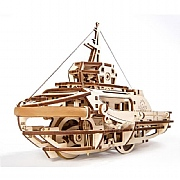 Build Your Own Rubber Band-Powered Tugboat