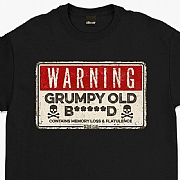 "Oldies Club ""Warning, Grumpy Old..."" T-Shirts"