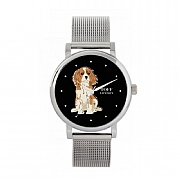 Cavalier King Charles Spaniel Dog 38mm Black Dial Watch