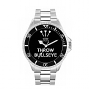 Men's 42mm Black Throw Bullseye Watch
