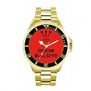 Men's 42mm Red Throw Bullseye Watch