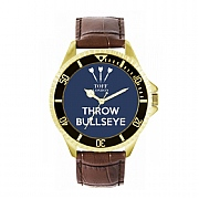 Men's 42mm Dark Blue Throw Bullseye Watch