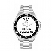 Men's 42mm White Throw Bullseye Watch
