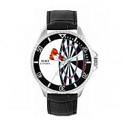 Men's 42mm Score Bullseye Dartboard Watch