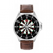 Men's 42mm Dartboard 180 Numerals Watch