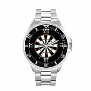 Men's 42mm Dartboard Roman Numerals Watch