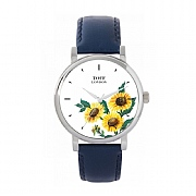Ladies 38mm Yellow Sunflower Flower Watch