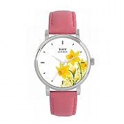 Ladies 38mm Yellow Daffodil Flower Watch