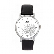 Ladies 38mm Grey Water Lilies Flower Watch