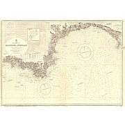 Vintage Nautical Chart - Admiralty Chart 2620 - Eddystone to Portland